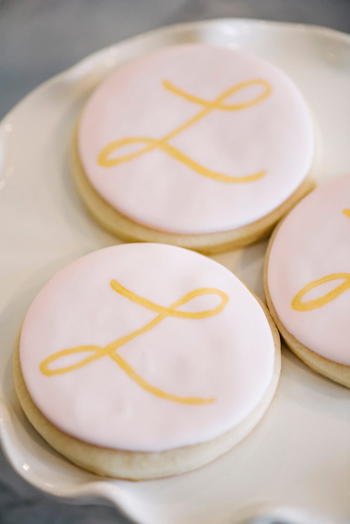 Monogram Sugar Cookies (1 dozen)