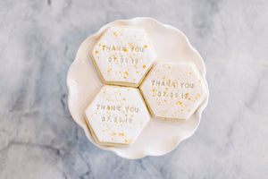 Wedding Favor Thank You Sugar Cookies (1 dozen)