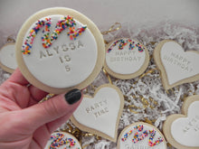 Load image into Gallery viewer, Happy Birthday Sugar Cookies personalized (1 dozen)