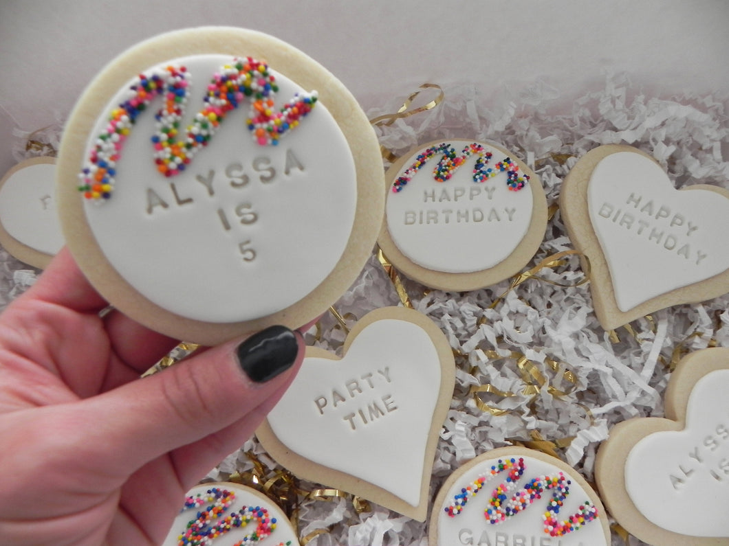 Happy Birthday Sugar Cookies personalized (1 dozen)