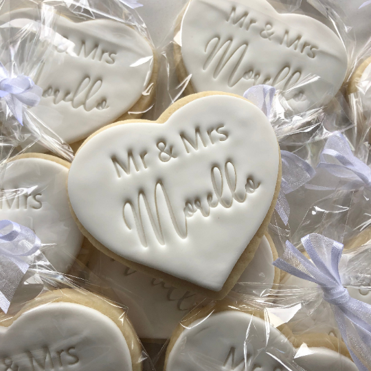 Wedding Favor Thank You With Custom Messaging Sugar Cookies (1 dozen)