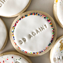 Load image into Gallery viewer, Party Mix Birthday Sugar Cookies personalized (1 dozen)