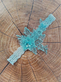 Light blue lace garter