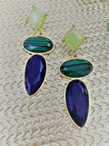 Cool coloured stone earrings
