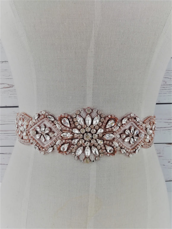 Rose gold and silver sash