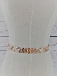 Rose gold link belt