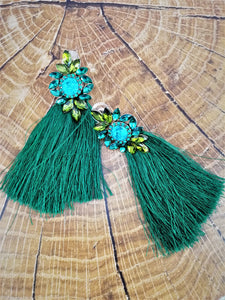 Emerald green earrings
