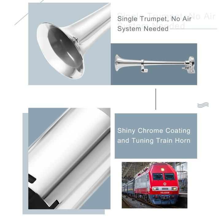 160 DB TRAIN HORN WITH AIR COMPRESSOR