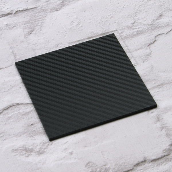 Black Carbon Fibre Acrylic House Sign Sample