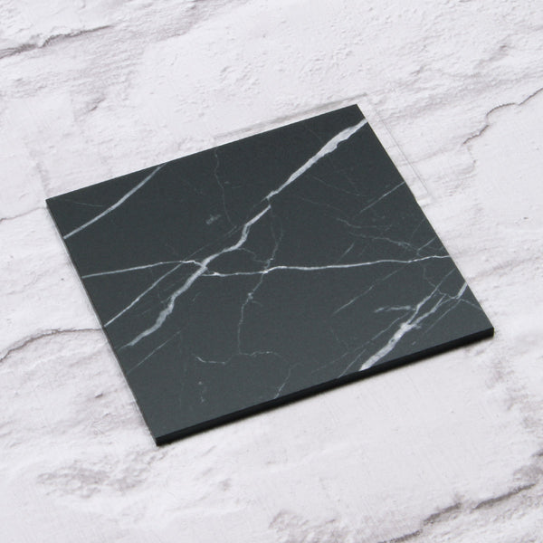 Black Marble Acrylic House Sign Sample