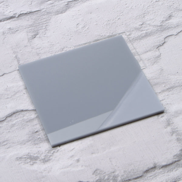 Light Grey Gloss Acrylic House Sign Sample