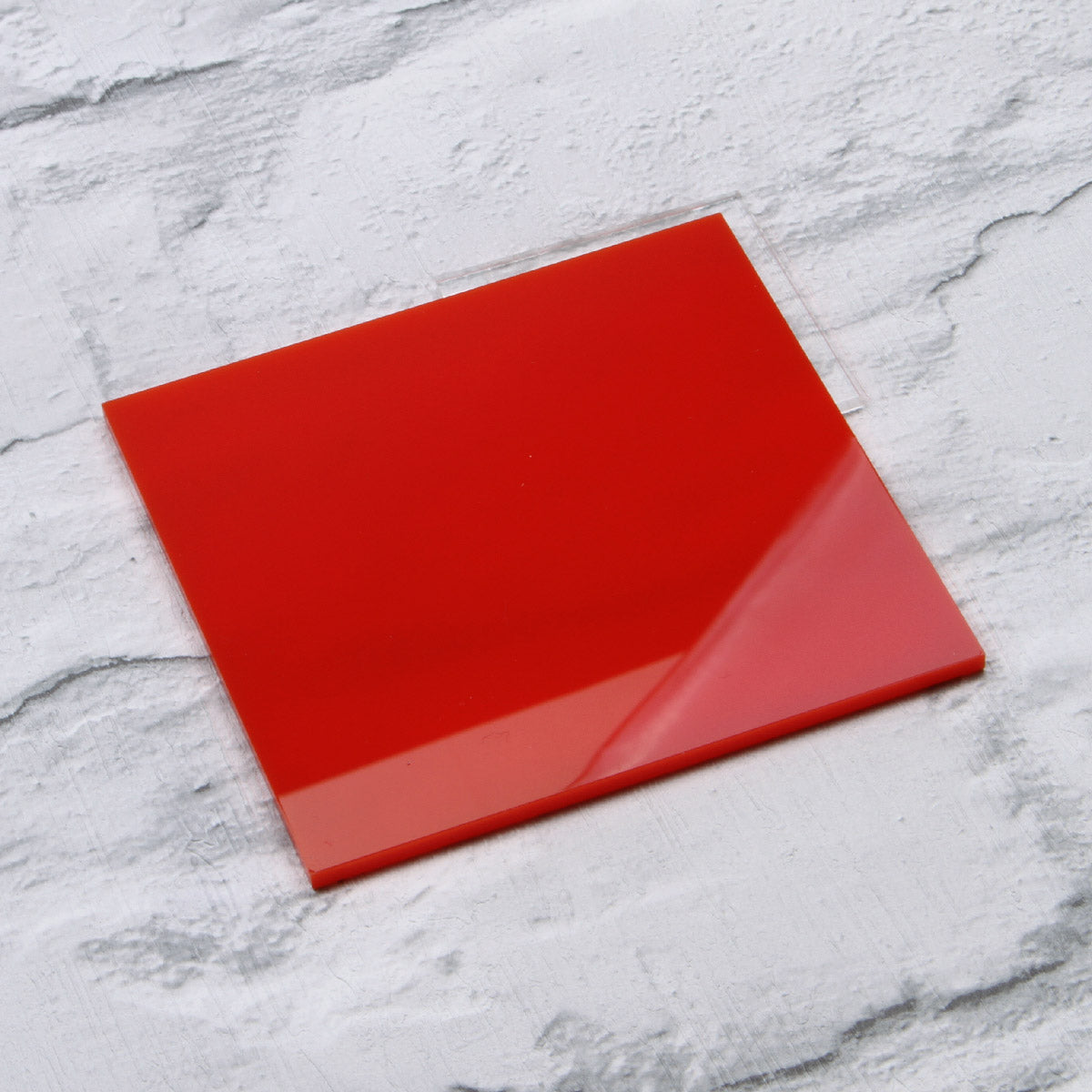 Red Gloss Acrylic House Sign Sample