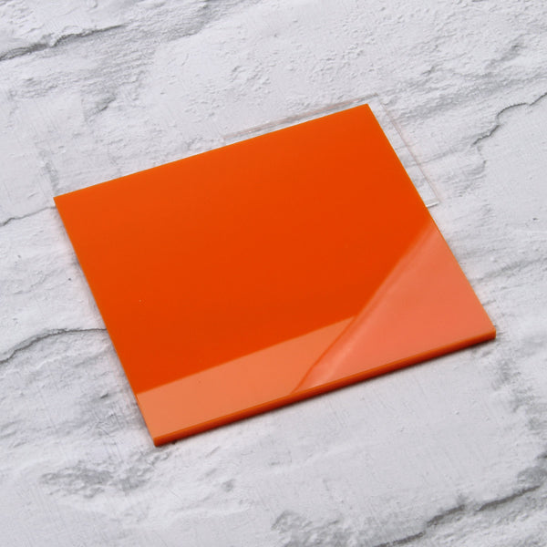 Orange Gloss Acrylic House Sign Sample