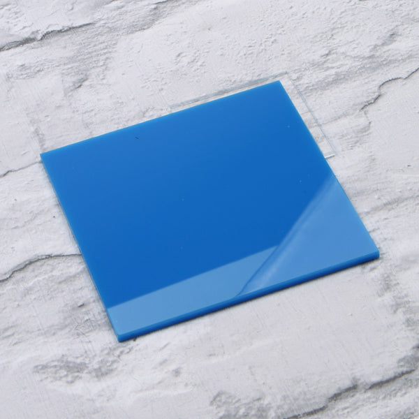 Blue Gloss Acrylic House Sign Sample