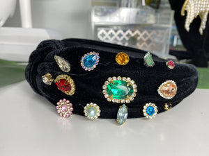 Plush Jeweled Headband
