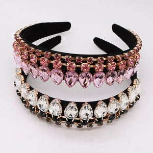 Double Tier Jeweled Headband