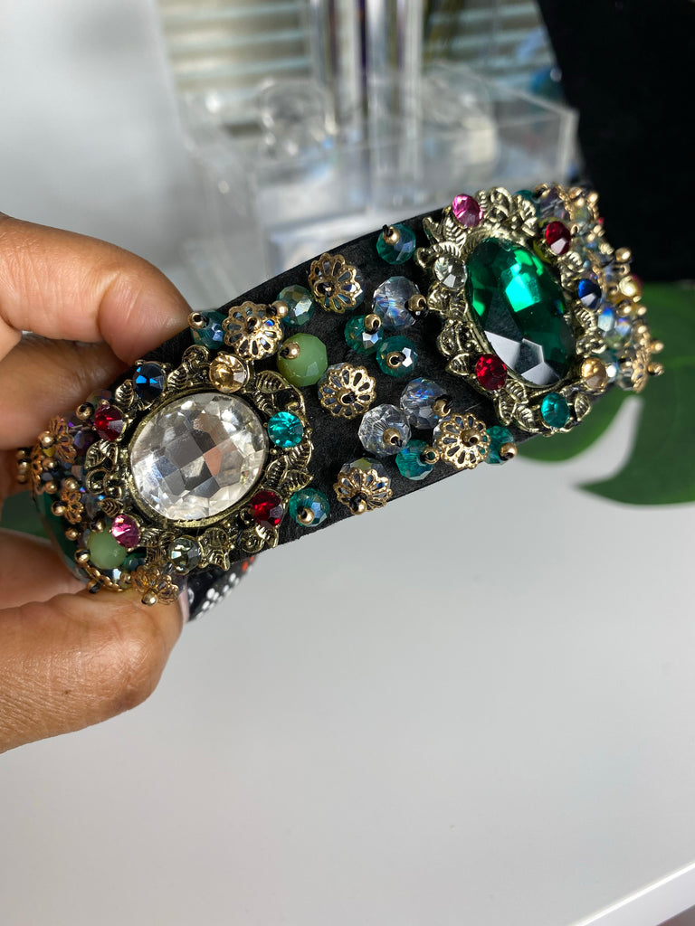 Royal Green Jeweled Headband