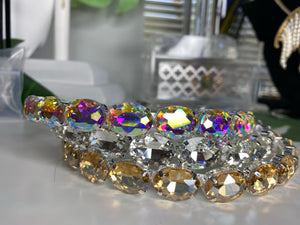 Oval Crystal Headband