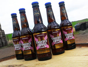 Thistly Cross Original Cider. 6.2%, 12x330ml bottles.