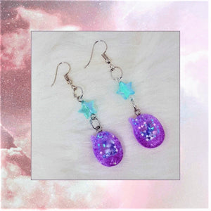 Mini Tamagotchi Liquid Shaker Earring