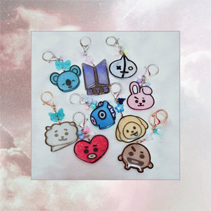BT21 Keychain Charms