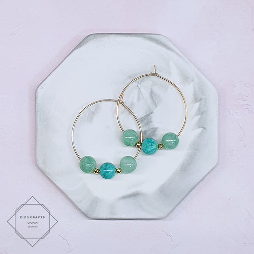 Amazonite, Jade Earrings