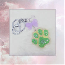 Load image into Gallery viewer, Paw Print Keychain Charm