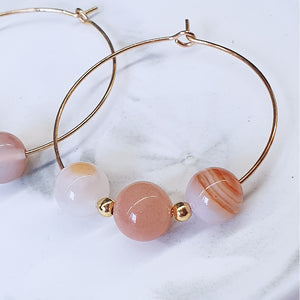 Sunstone, Sardonyx Earrings