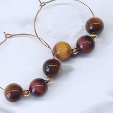 Load image into Gallery viewer, Tigers Eye Earrings