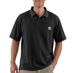 Carhartt Work Pocket Polo Tee - Black