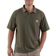 Carhartt Work Pocket Polo Tee - Moss