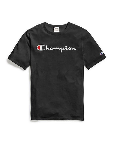 Champion Embroidered Script Tee - Black