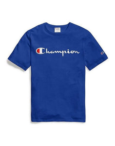 Champion Embroidered Script Tee - Blue