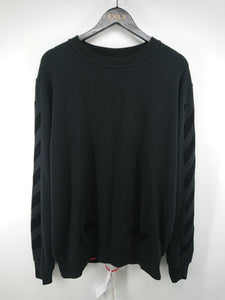 Off White Tone-On-Tone Sweatshirt