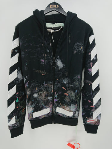 Off White Galaxy Zipped Hoodie