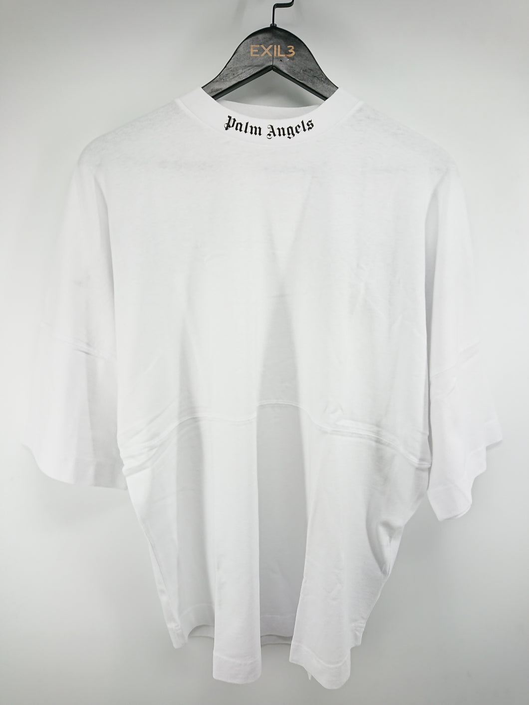 Palm Angels White Mock Neck Tee