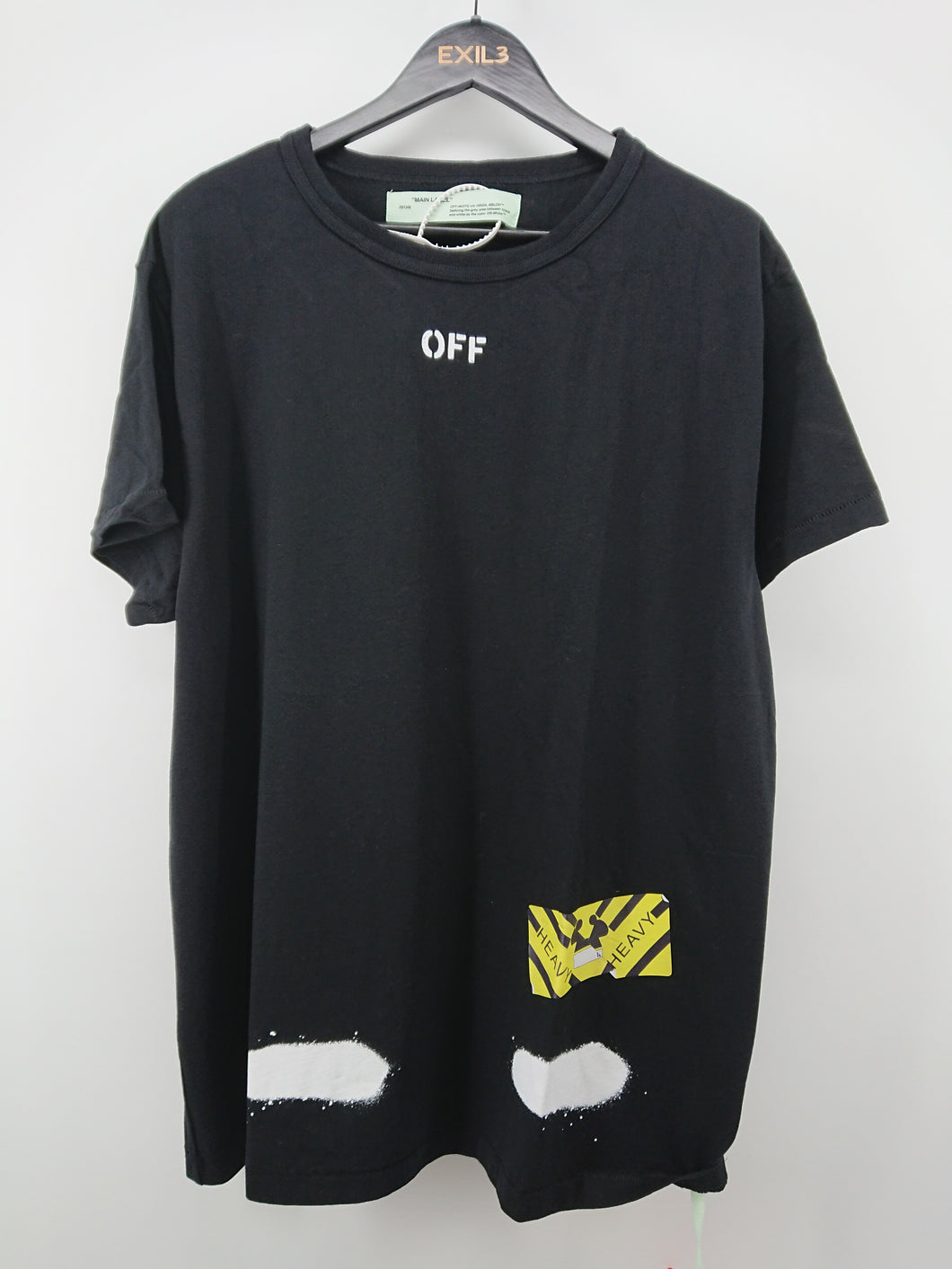 Off White Diagonal Spray Tee