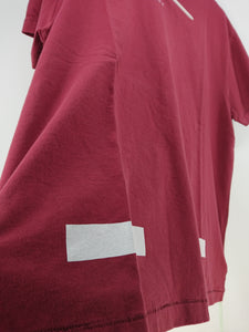 Off White Bordeaux Diagonal Tee