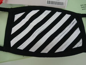 Off White Stripe Mask - Black