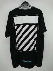 Off White Diagonal Temperature Tee - Black