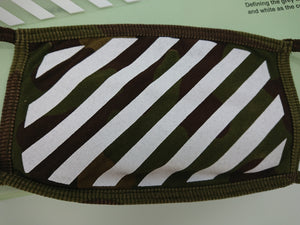 Off White Stripe Mask - Camo
