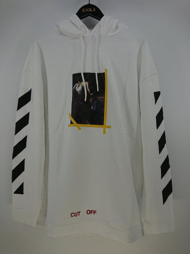 Off White Annunciation Terry Hoodie - White