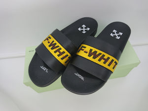 Off White Yellow Industrial Belt Slides