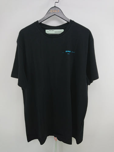 Off White Gradient Arrow Oversize Tee - Black