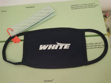 Off White Logo Mask - Navy