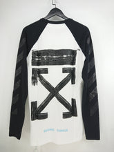 Off White Diagonal Brushed Raglan LS Tee