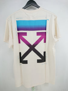 Off White Gradient Arrow Oversize Tee - White