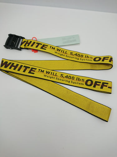 Off White Industrial Belt - Yellow (Black Buckle)