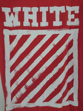 Off White Diagonal Brush Tee - Red