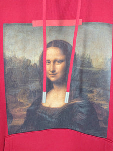 Off White Mona Lisa Pullover Hoodie - Red